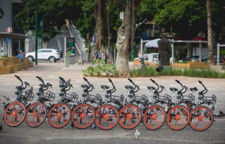 מערך האופניים השיתופיים של MOBIKE מגיע לרמת-גן