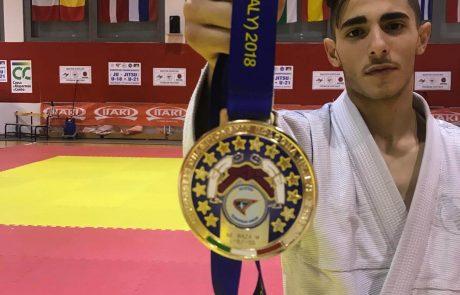 אלוף אירופה בג׳יו ג׳יטסו:אלון לוייב,תלמיד כיתה יא' מתיכון מקיף רמת-גן