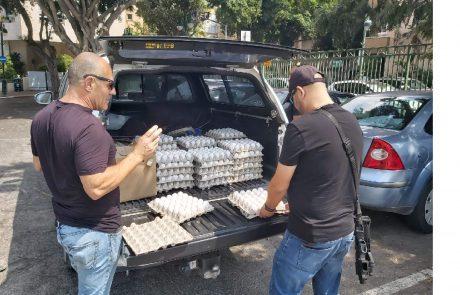 אלפי ביצים חשודות נתפסו במרכול ברמת גן