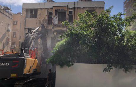 """עוד פרויקט פינוי-בינוי ברמת גן יוצא לדרך: נהרסו הבניינים ברחוב תש""""י 1-3"""