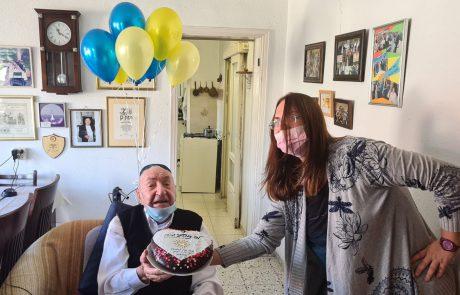 חוגגים לתושב העיר בן 101 יום הולדת