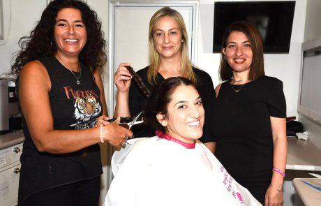 עוצמה של תרומה- עיריית רמת גן ו'זכרון מנחם' קיימו מבצע התרמת שיער
