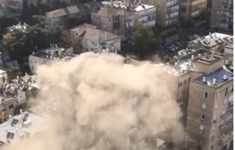 ראשוני: שריפה במבנה קומה 12, ביאליק 77 ברמת גן, דיווח על המצאות לכודים