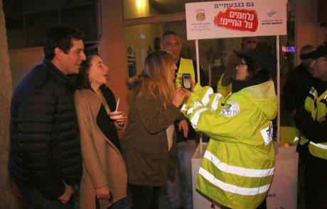 מבצע הסברה ואכיפה בנושא נהיגה ושתיית אלכוהול במהלך ערב הסילווסטר