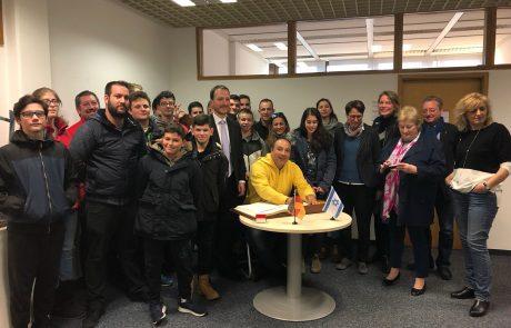 ברית ערים תאומות פורה בים גבעתיים לאסלינגן בגרמניה