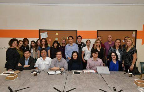 ביקור של בכירי מערכת משרד החינוך מסינגפור במערכת החינוך של גבעתיים