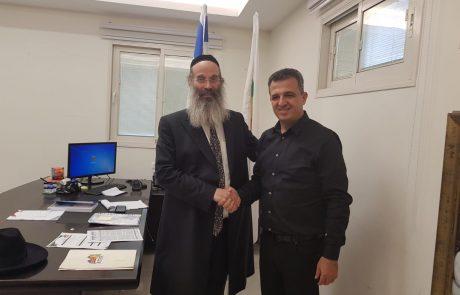 """ראש עיריית ר""""ג כרמל שאמה נפגש עם מקבילו מעיריית בני ברק"""