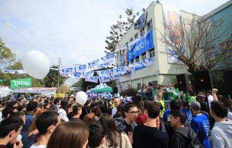 תלמידי בליך קבעו: מפלגת כחול לבן היא המנצחת בבחירות לכנסת ה-21
