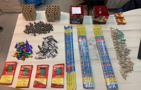 פורים: עשרות נפצים וצעצועים מסוכנים נתפסו בביתו של קטין ברמת גן