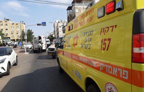 תאונת אופנוע בשדרות ירושלים: צעיר כבן 20 נפצע בינוני