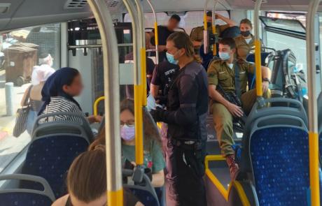 קורונה: עיריית רמת גן החלה בפעולות אכיפה עצמאית על עטיית מסכות באוטובוסים